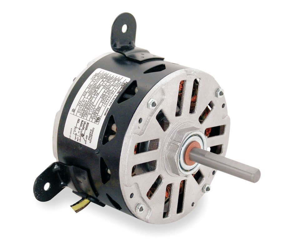 Carrier electric motor 1 6 hp 1075 rpm 1 2 amps 208 230 for One horsepower electric motor