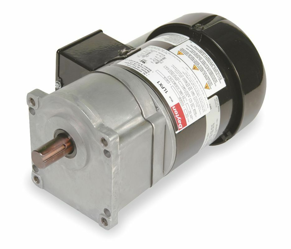 dayton model 1lpx1 gear motor 30 rpm 1 5 hp 115 230v