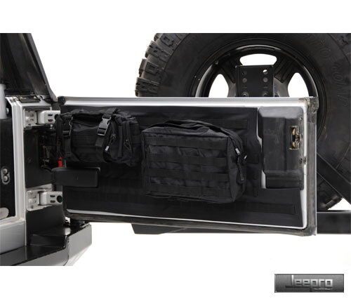 Smittybilt 5662201 Gear Tailgate Cover Black Fits Jeep 97