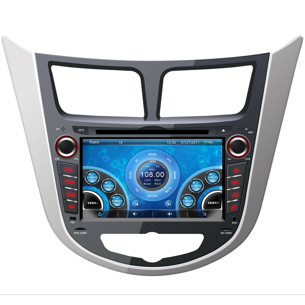 7 Quot Car Stereo Dvd Player For Hyundai Accent Blue Wit