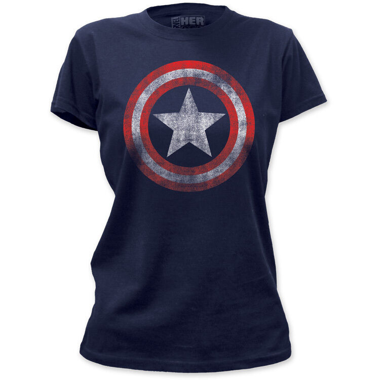 new captain america vintage faded look logo shield emblem marvel t shirt top tee ebay. Black Bedroom Furniture Sets. Home Design Ideas