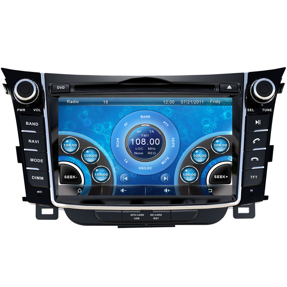 7 car stereo dvd player for hyundai i30 2012 2013 with. Black Bedroom Furniture Sets. Home Design Ideas