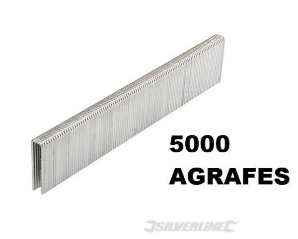 5000 AGRAFE 22 MM TYPE 90 POUR AGRAFEUSE CLOUEUSE PNEUMATIQUE 15 - 50 MM