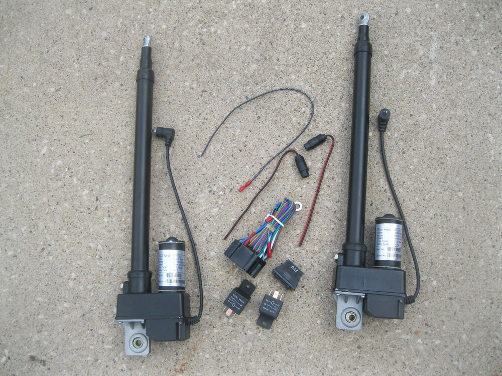 (2) TWO Heavy Duty 10 Inch Linear Actuator & Wiring Switch ...