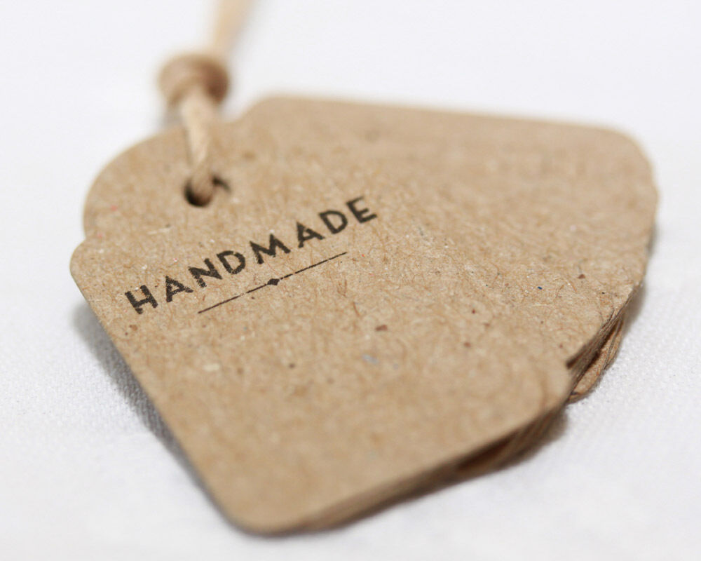 East of india mini vintage shop labels handmade great for Custom tags for crafts