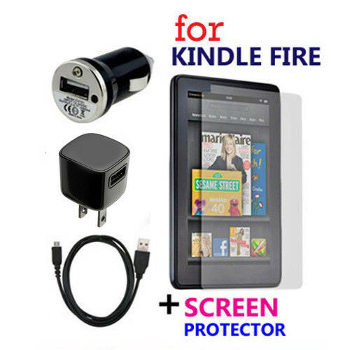 usb cable car wall ac power charger protector for amazon kindle fire tablet ebay. Black Bedroom Furniture Sets. Home Design Ideas