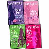 Cathy Hopkins Mates Dates 4 Books Collection Pack Set RRP: £24.96 Flirting New