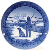 1977 ROYAL COPENHAGEN CHRISTMAS PLATE IMMERVAD BRIDGE