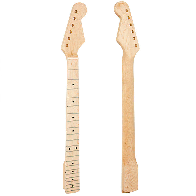 electric guitar neck for st parts replacement arcuated heel 22 fret maple 634458205870 ebay. Black Bedroom Furniture Sets. Home Design Ideas