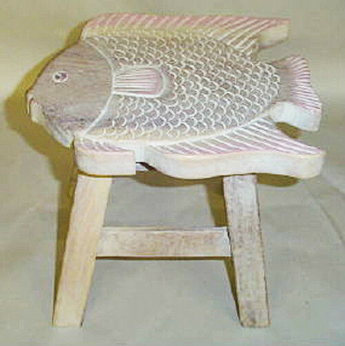 Footstools wooden fish footstool white wash finish for L fish furniture