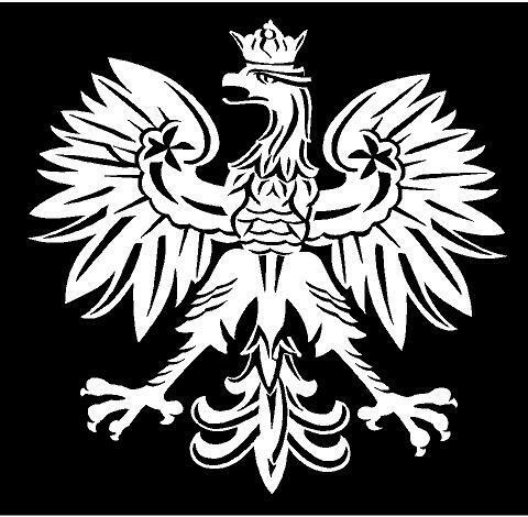 Small White Vinyl Decal Polish Eagle Poland Symbol