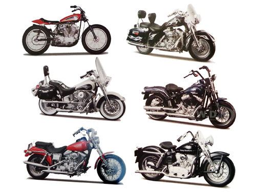 6pc harley davidson motorcycle set series 30 1 18 by maisto 31360 30 710828939436 ebay. Black Bedroom Furniture Sets. Home Design Ideas