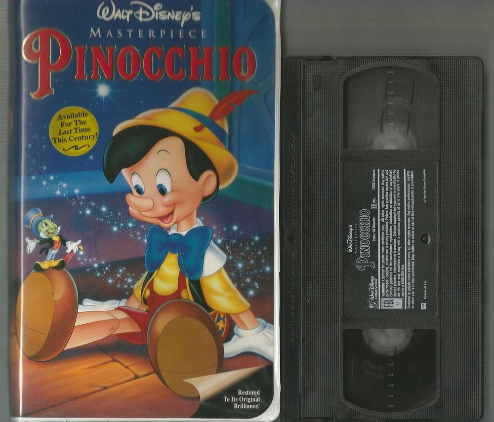 Pinocchio VHS Disney Clamshell Used but Guaranteed to Play ...