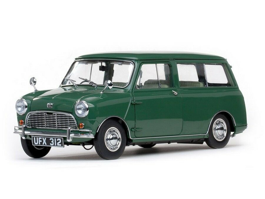 1963 austin mini countryman green 1 12 diecast model car. Black Bedroom Furniture Sets. Home Design Ideas