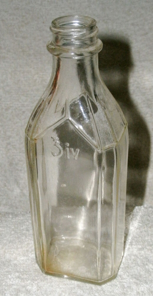 Clear Glass Six Sided Screw On Type Top Bottle Sm Knoxall