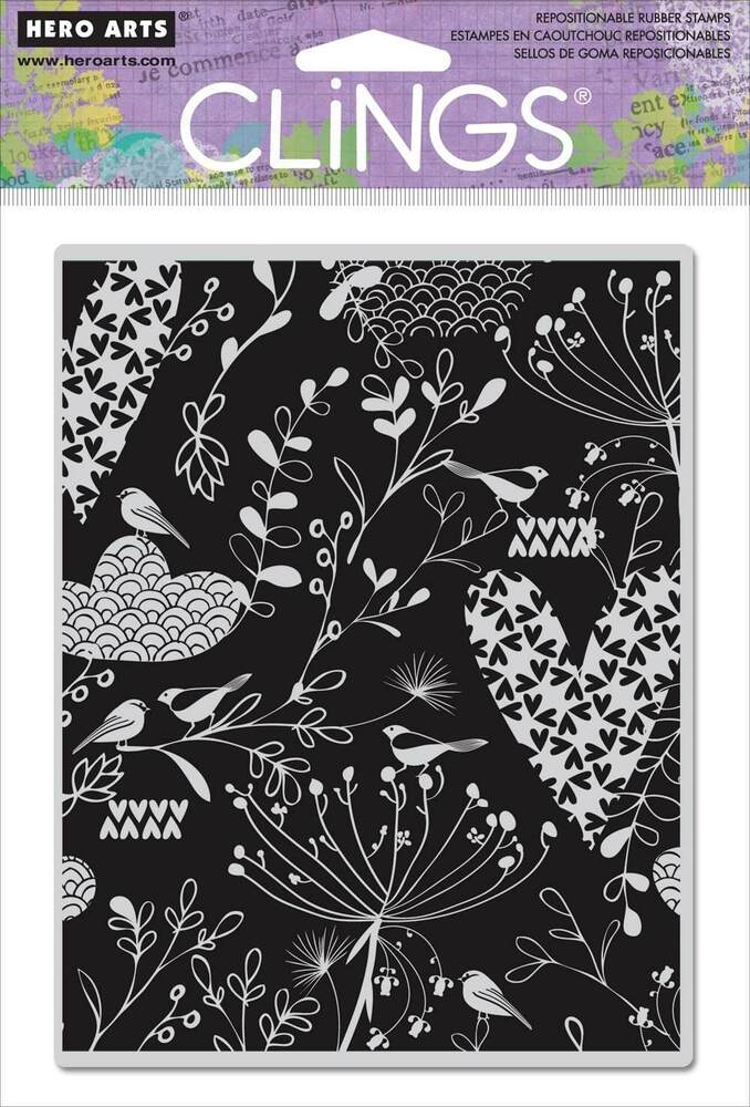 Hero arts cling rubber stamps heart leaf background ebay for Rubber stamps arts and crafts