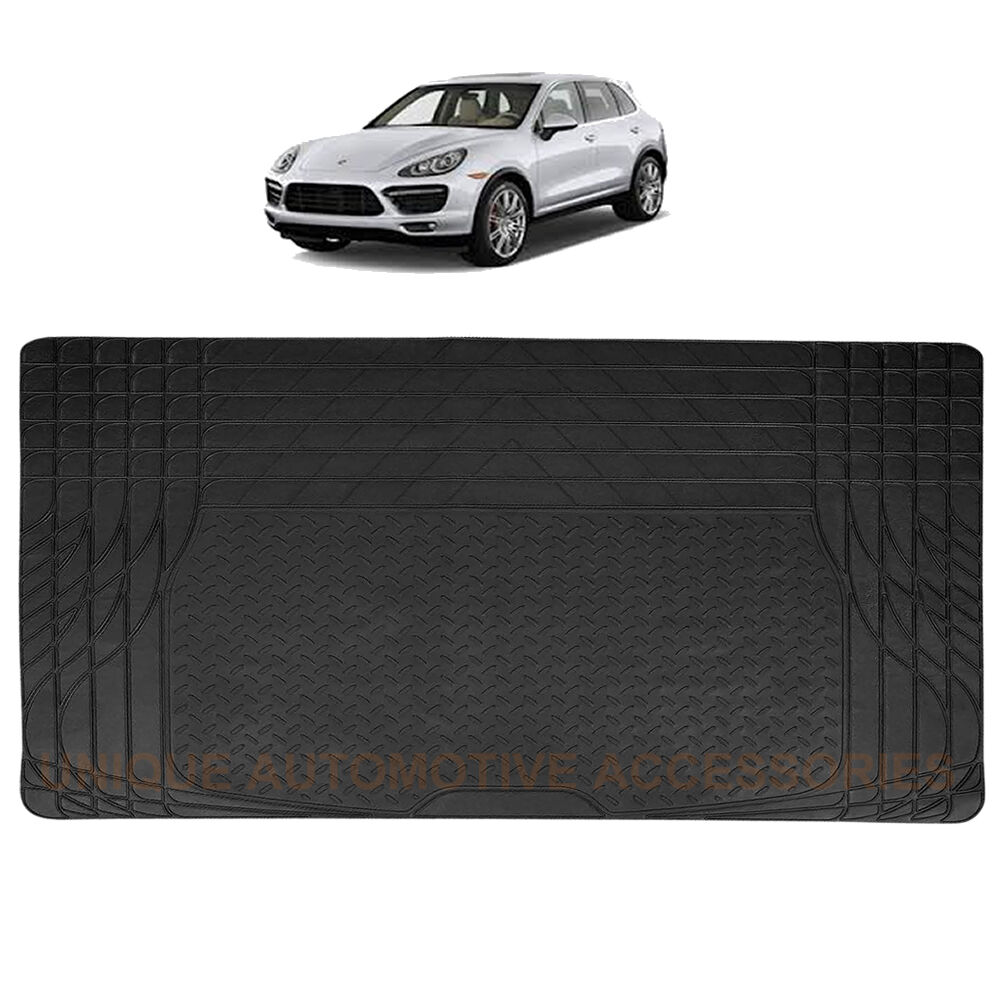 New Classic Style Black Rubber Trunk Cargo Floor Mat For
