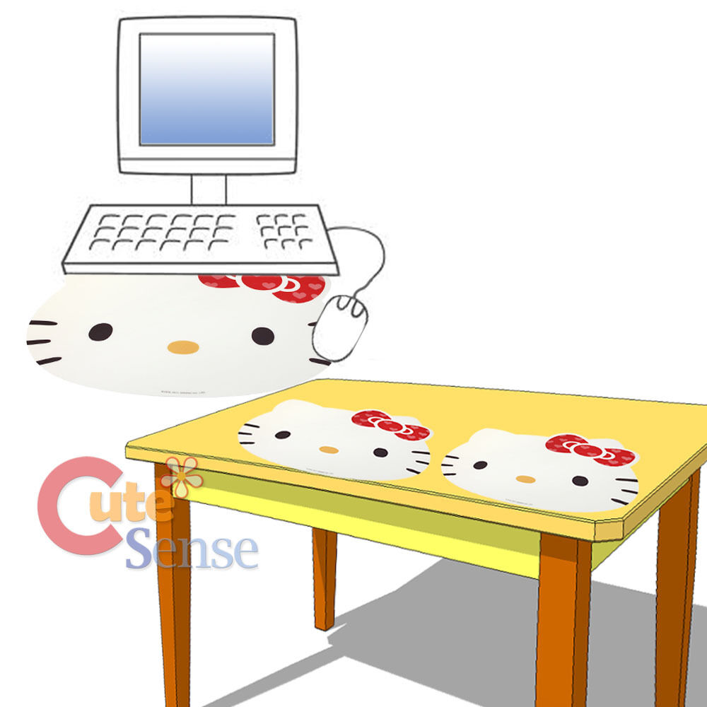 Sanrio hello kitty face computer mouse pad 17 xl table for Table exterieur hello kitty