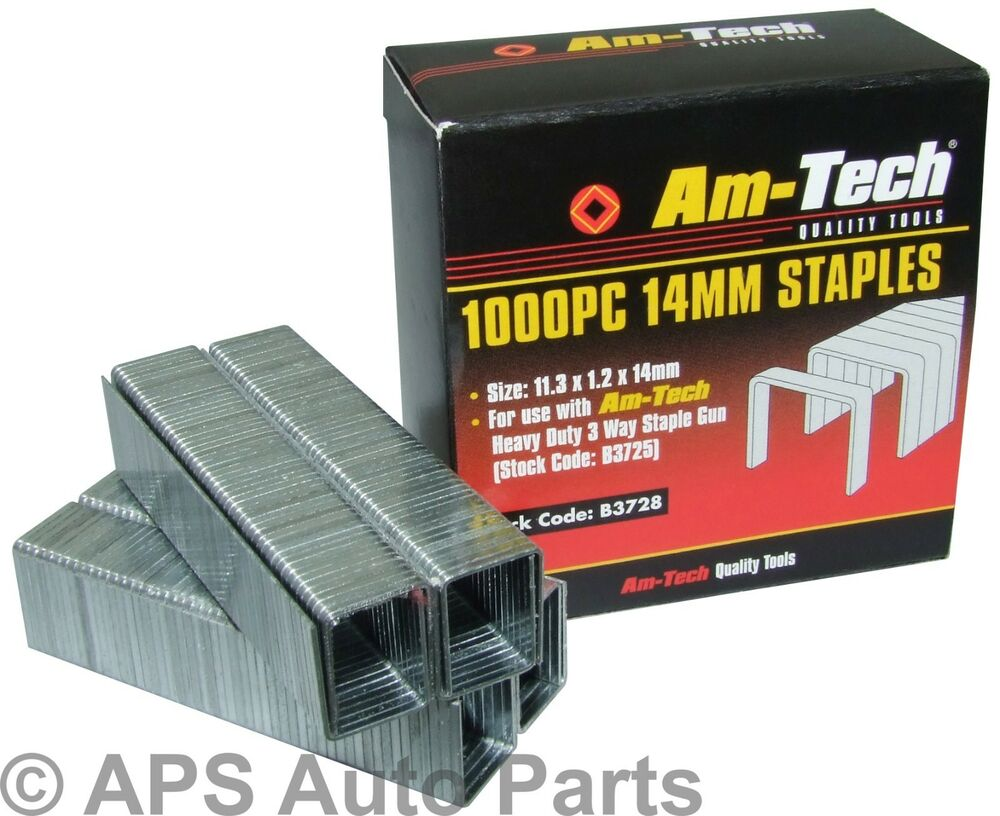 Good Quality New 1000pc 14mm Gun Staple Staples Appox Size