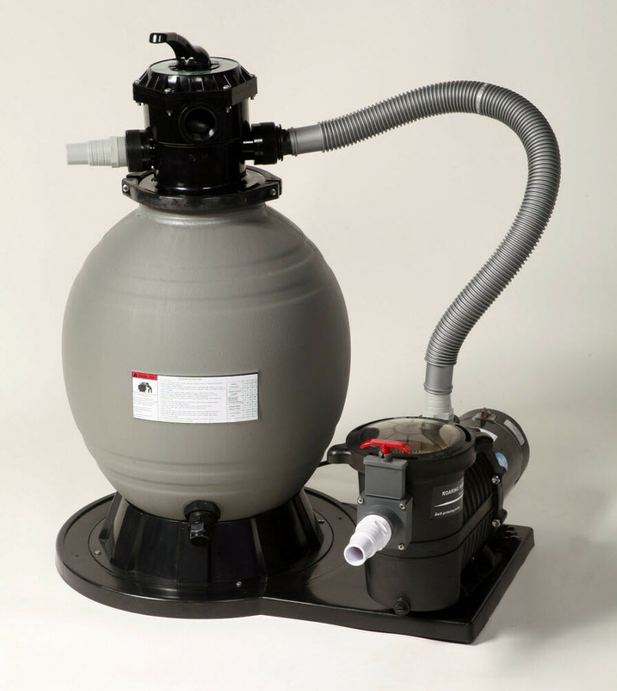 New large 22 above ground swimming pool sand filter pump cleaner system ebay for Swimming pool pumps for above ground pools