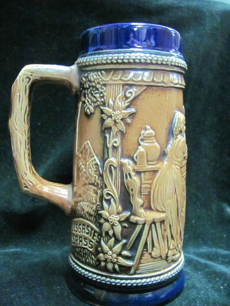 Blue And Brown Gerzit German Beer Stein Ebay
