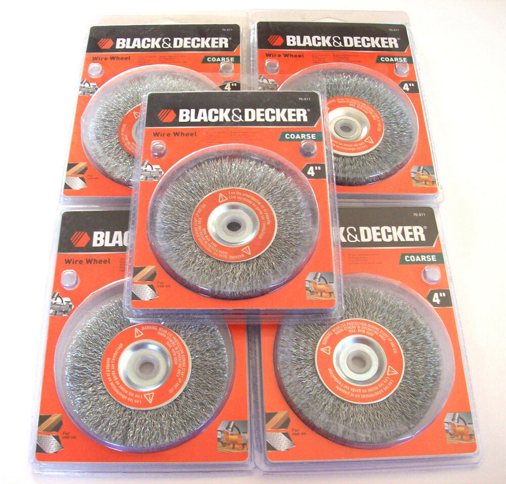 5 Black Amp Decker 4 Quot Steel Wire Wheels Coarse 70 611 For