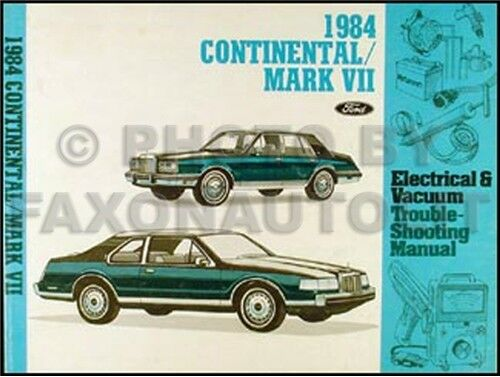 1984 lincoln continental and mark vii electrical vacuum