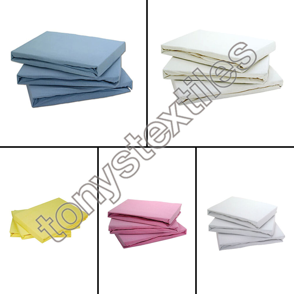 Jersey Cotton Fitted Bed Sheets