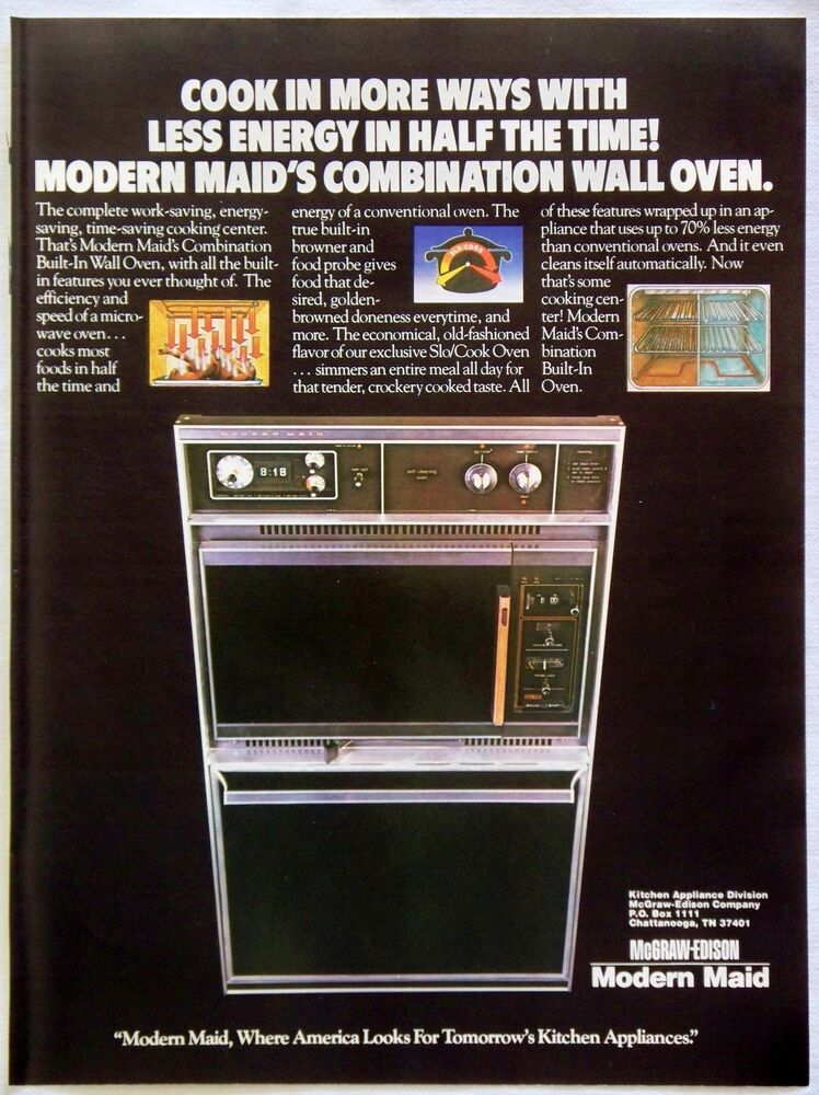 Vintage 1979 Modern Maid Combination Wall Oven Microwave