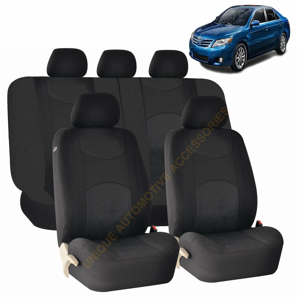 2004 Toyota Tacoma Seat Covers: BLACK AIRBAG & SPLIT Bench SEAT COVERS 9pc SET For TOYOTA
