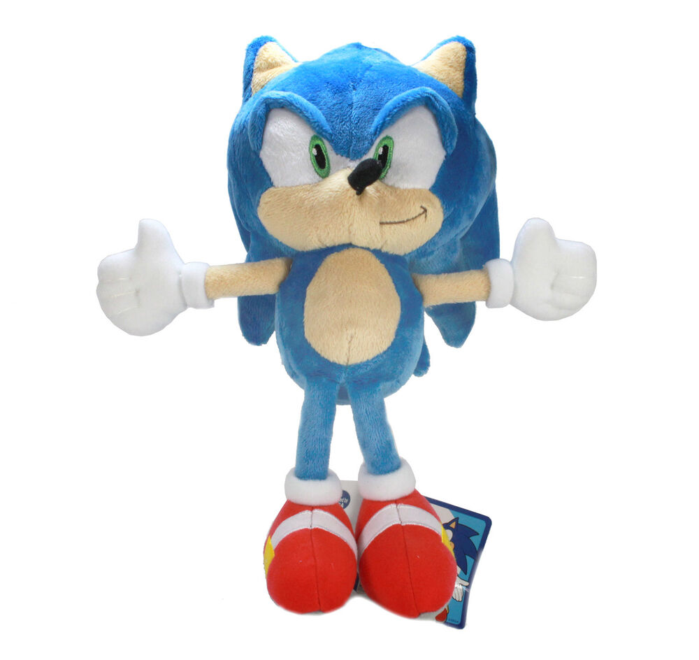 "NEW OFFICIAL 14"" SONIC THE HEDGEHOG TAILS KNUCKLES AMY ... 