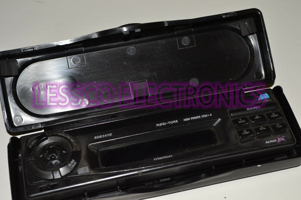 Clarion Car Stereo: Replacement Detatchable Face Plate For Clarion RDB345D Car