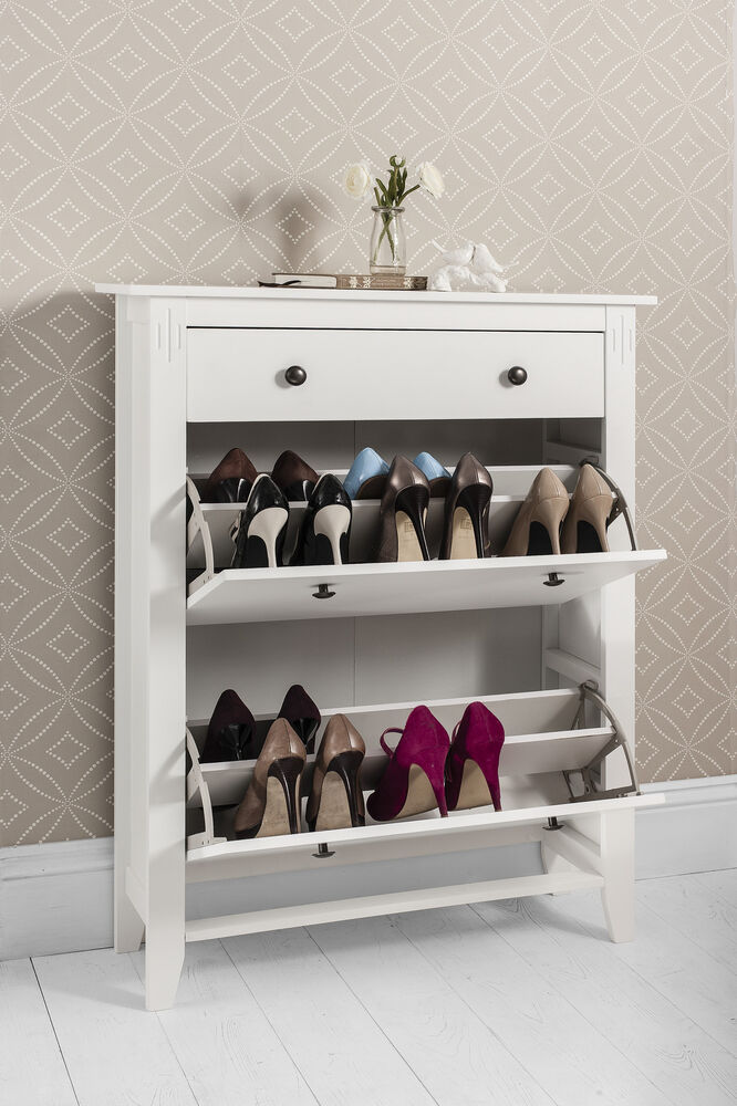Shoe storage cabinet deluxe with storage drawer cotswold for Armario zapatero amazon