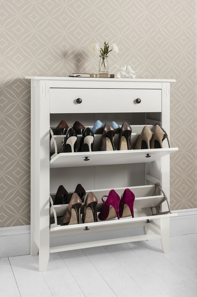 Shoe storage cabinet deluxe with storage drawer cotswold for Mueble zapatero amazon