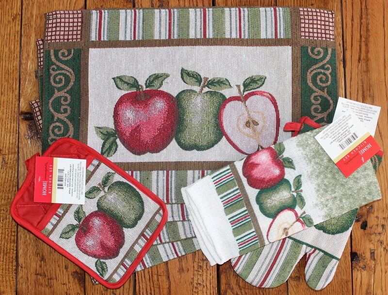 New Placemat Set Country Apple Kitchen Dining Table
