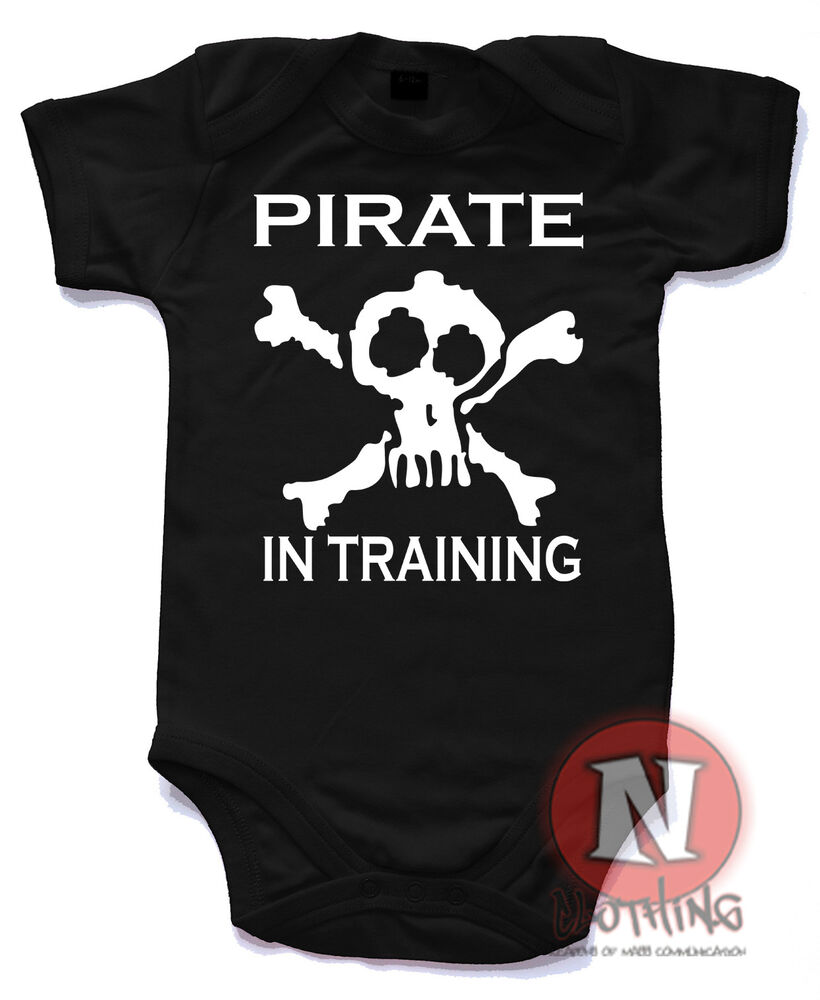 Naughtees Clothing Pirate In Training Funny Cute Babygrow ...