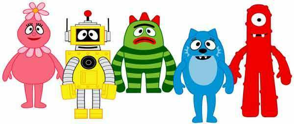 YO GABBA GABBA Kids TV Cartoon characters Group Window ...