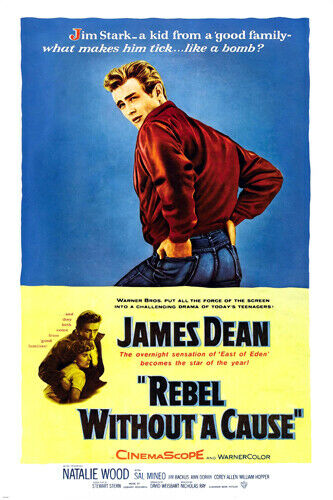classic rebel without a cause movie poster james dean. Black Bedroom Furniture Sets. Home Design Ideas
