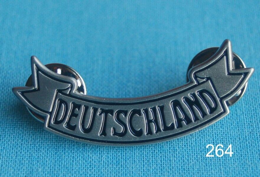 deutschland schrift biker motorrad abzeichen pin button. Black Bedroom Furniture Sets. Home Design Ideas