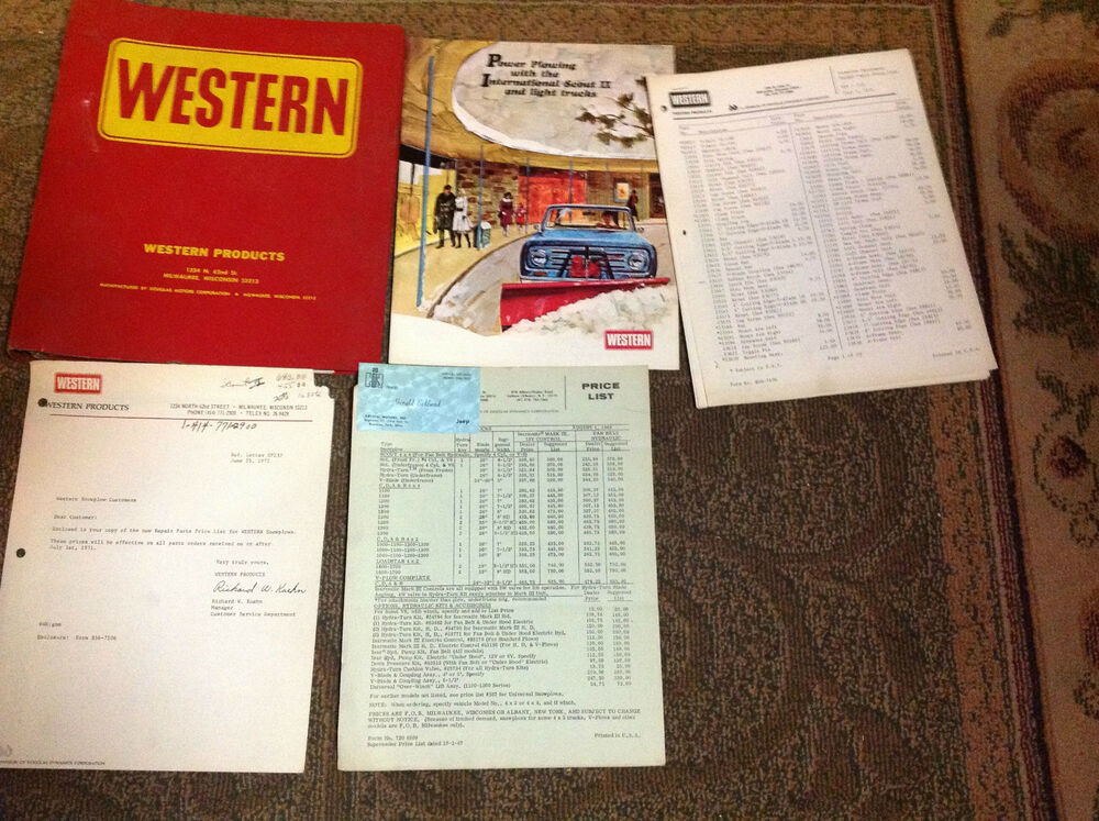 Western Snow Plow Manual : Western snow plow removal parts catalog manual factory oem