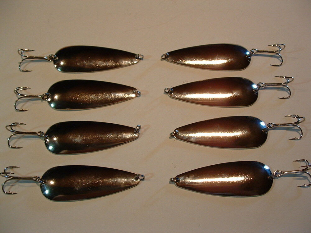 8 eagle bay nickel fishing lures 1 2 oz pike muskie trout for Salmon fishing lures