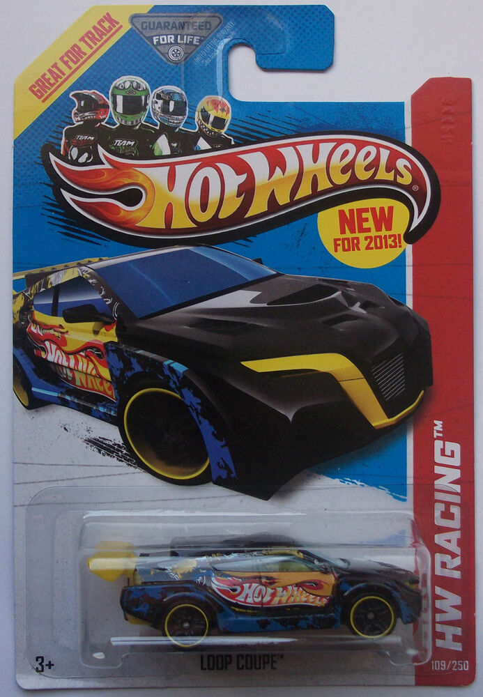 2013 hot wheels hw racing loop coupe 109 250 blue version. Black Bedroom Furniture Sets. Home Design Ideas