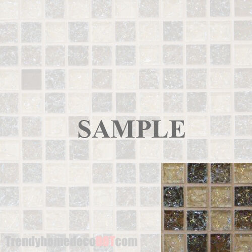 Sample Cream Crackle Glass Mosaic Tile Kitchen Backsplash: Sample- Crackle Brown Glass Mosaic Tile Kitchen Backsplash