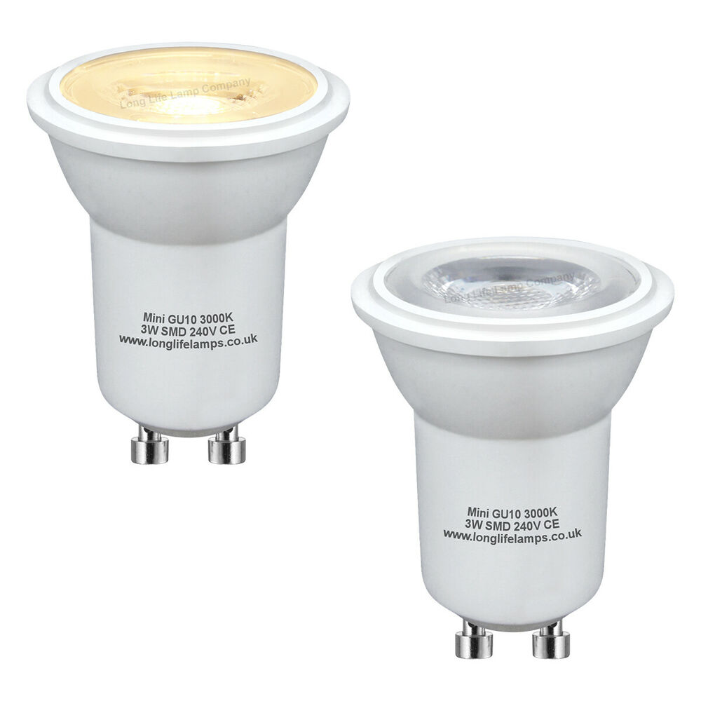 2 x mini gu10 halogen light bulbs 35mm small gu10 35w ebay for Where to buy halogen bulbs