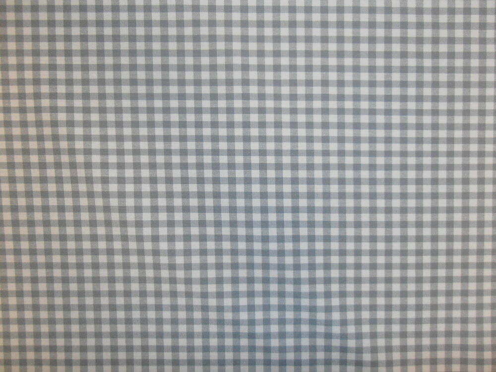 Foxcote Dove Grey Check Gingham Off White Curtain Light Upholstery Fabric Ebay