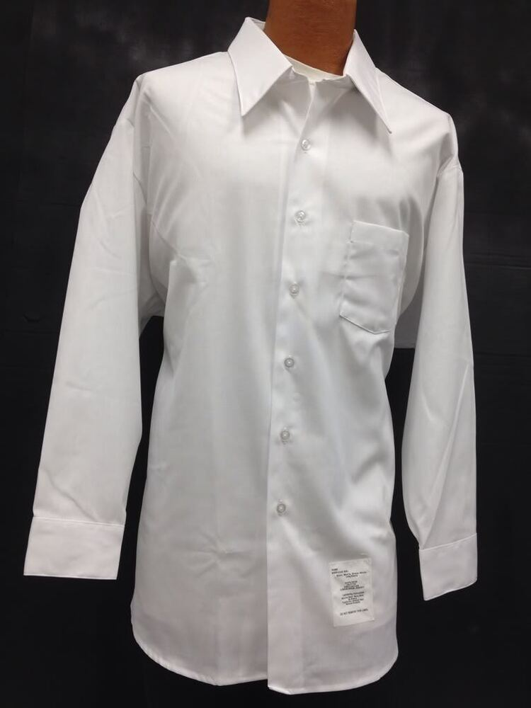 Shirt mens long sleeve dress casual white collared formal for Mens long sleeve white shirts