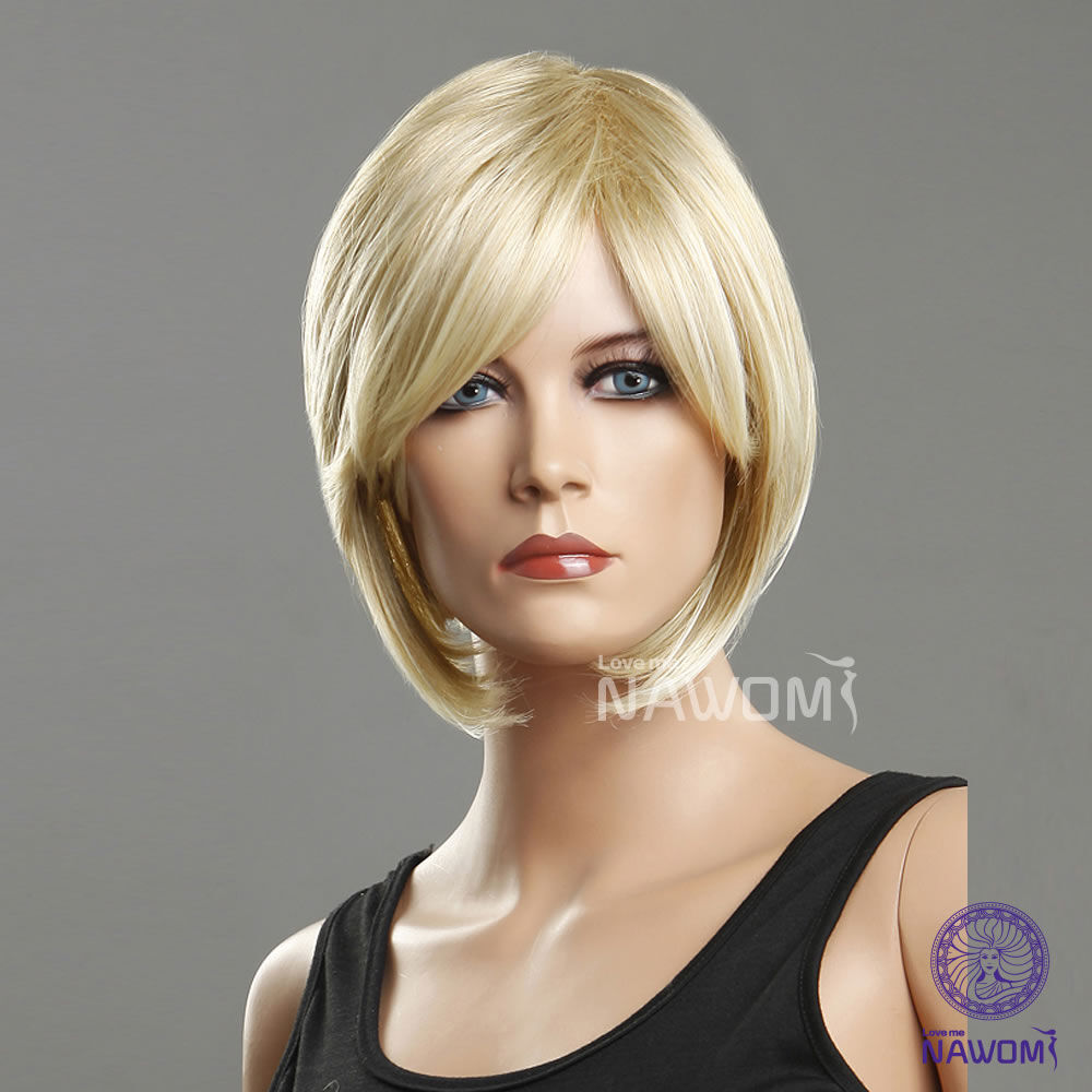 short blond wig nude
