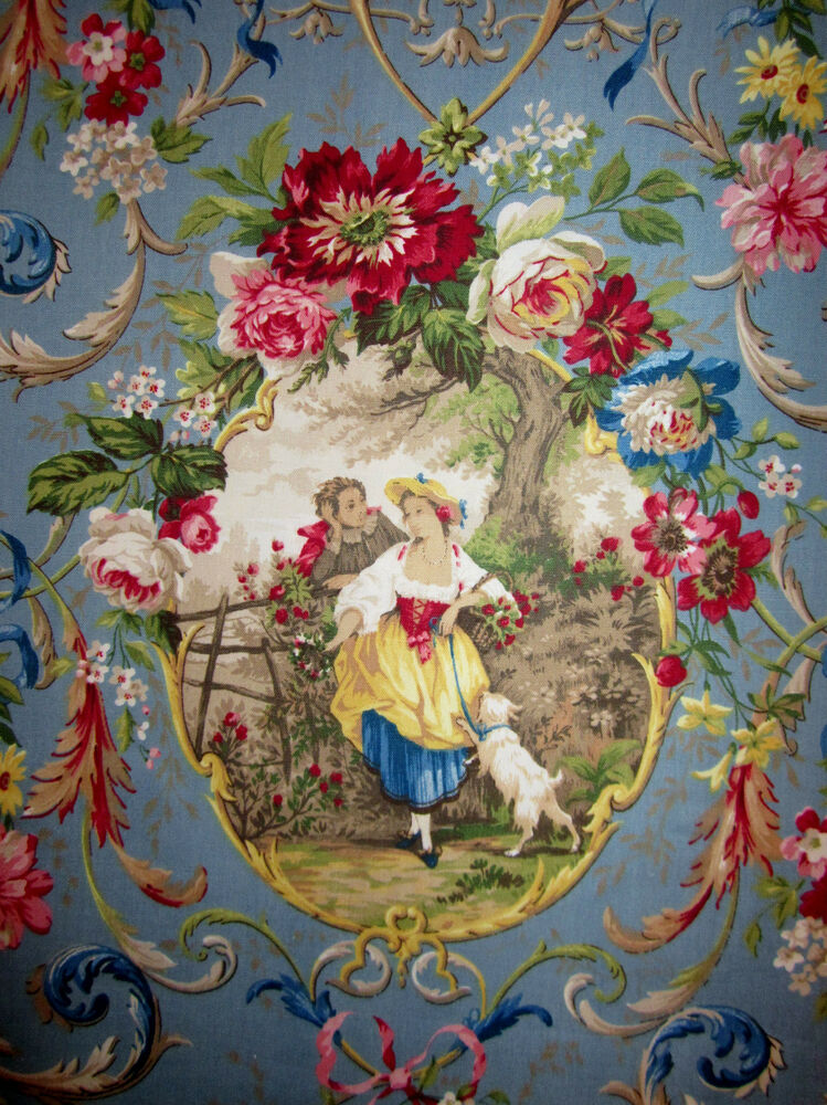 richloom fragonard blue cameo french country chic toile
