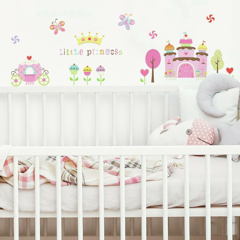 New happi cupcake land wall stickers girls room baby for Stickers para decorar paredes infantiles
