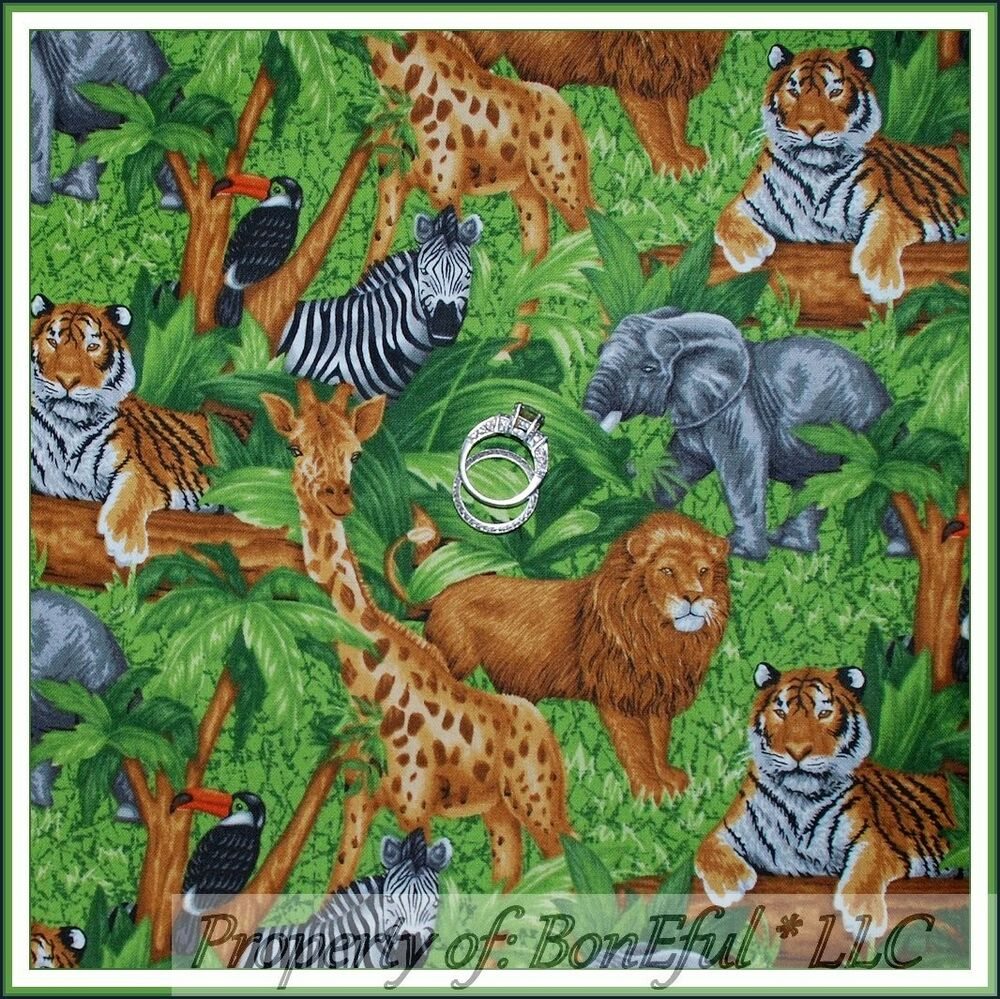 Boneful Fabric Fq Jungle Safari Wild Lg Animal Giraffe